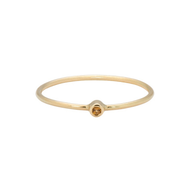 ANNA + NINA 14 Karaat Gouden Solid Gold Birthstone November Ring 19-3M908031G