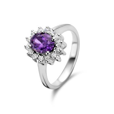 Parte Di Me Mia Colore Viola 925 Sterling Zilveren Ring PDM33014