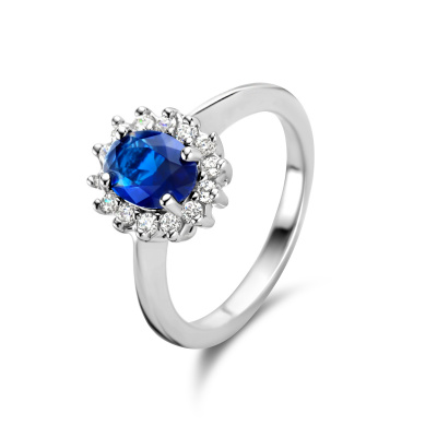 Parte Di Me Mia Colore Azure 925 Sterling Zilveren Ring PDM33017
