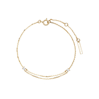P D Paola 925 Sterling Zilveren Goudkleurige Aisha Nia Armband PU01-074-U