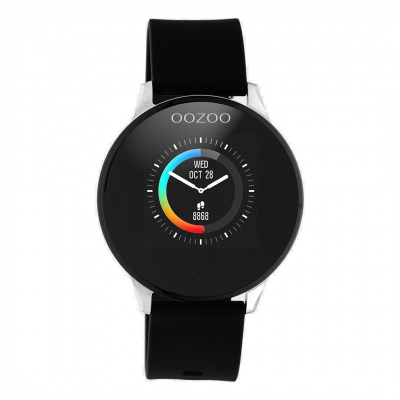 OOZOO Zwart/Zilverkleurig Display Smartwatch Q00113