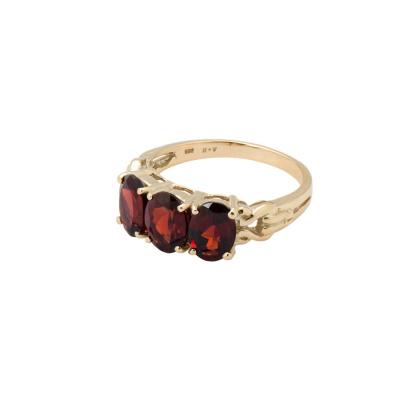ANNA + NINA 14 Karaat Gouden Solid Gold Rose Garnet Ring 18-2M908019G