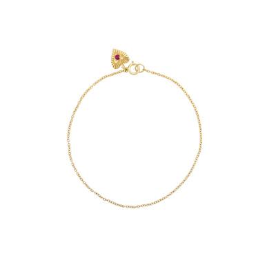 ANNA + NINA 14 Karaat Gouden Solid Ruby Heart 20-3M907001G