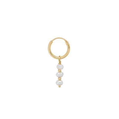 ANNA + NINA 925 Sterling Zilveren Surreal World Single Pearly Oorbel 20-1M902013GP