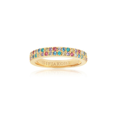 Sif Jakobs Corte Due Ring 18K Gouden Plating SJ-R10762-XCZ-YG