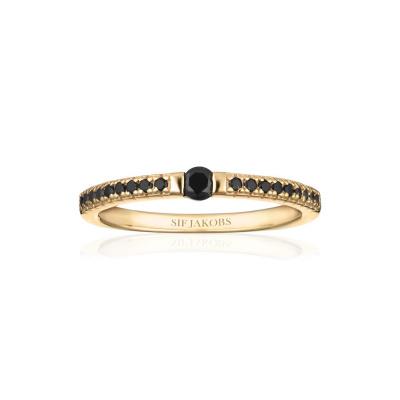 Sif Jakobs Ellera Uno Ring 18K Gouden Plating SJ-R22117-BK-SG