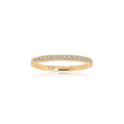 Sif Jakobs Ellera Ring 18K Gouden Plating SJ-R2869-CZ-YG
