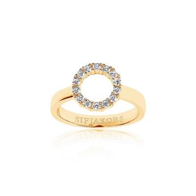 Sif Jakobs Biella Piccolo Ring 18K Gouden Plating SJ-R337-CZ-YG