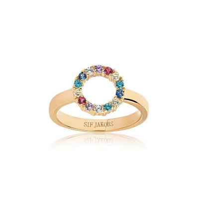 Sif Jakobs Biella Piccolo Ring 18K Gouden Plating SJ-R337-XCZ-YG