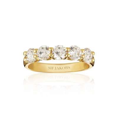 Sif Jakobs Belluno Uno Ring 18K Gouden Plating SJ-R42127-CZ-SG