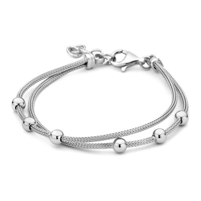 Selected Jewels 925 Sterling Zilveren Inaya Armband SJ0210272 (Lengte: 18.00-20.50 cm)