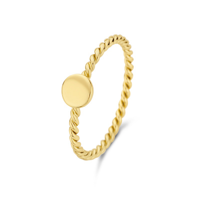 Selected Jewels Julie Belle 925 Sterling Zilveren Goudkleurige Ring SJ300016