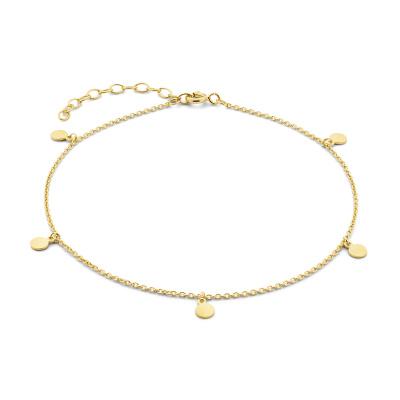 Selected Jewels Julie Belle 925 Sterling Zilveren Goudkleurig Enkelbandje SJ310006
