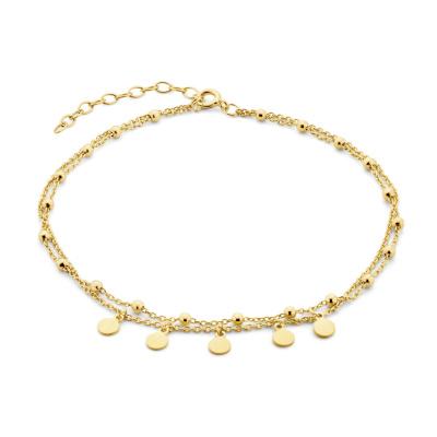 Selected Jewels Julie Belle 925 Sterling Zilveren Goudkleurig Enkelbandje SJ310010