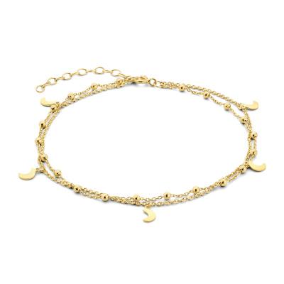 Selected Jewels Julie Belle 925 Sterling Zilveren Goudkleurig Enkelbandje SJ310012