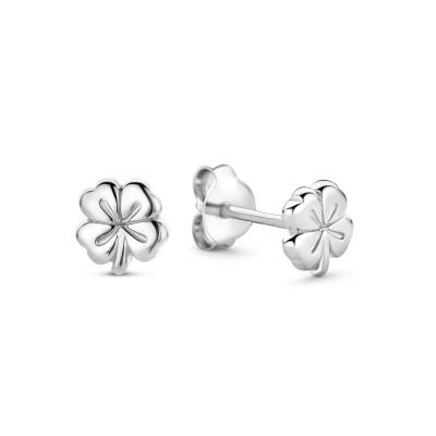 Selected Jewels Julie Olivia 925 Sterling Zilveren Oorknoppen Met Klavertje Vier SJ360097