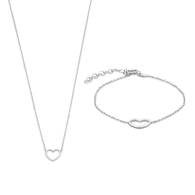 Selected Jewels Selected Gifts 925 sterling zilveren set armband en ketting SJSET1330084