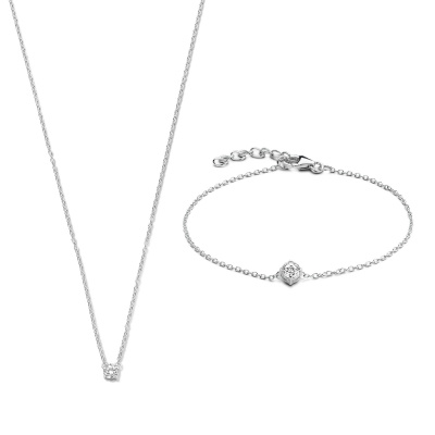 Selected Jewels Selected Gifts 925 sterling zilveren set armband en ketting SJSET1330085