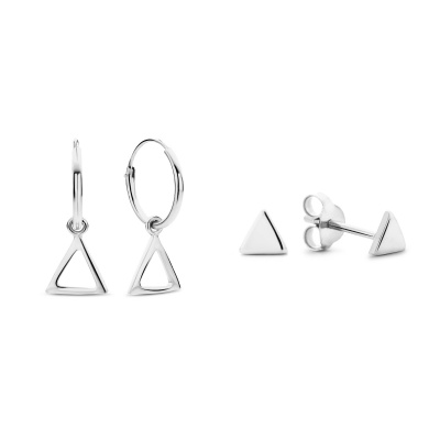 Selected Gifts 925 Sterling Zilveren Set Oorbellen SJSET380007