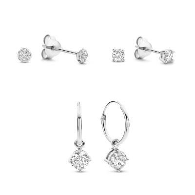 Selected Gifts 925 Sterling Zilveren Set Oorbellen SJSET380013