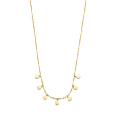 Selected Jewels 925 Sterling Zilverenen Goudkleurige Vajèn Ketting SJ0210206 (Lengte: 41.00-45.00 cm)