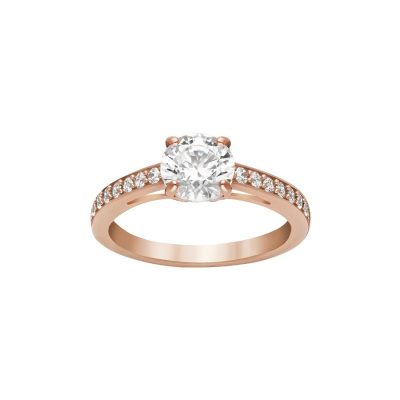 Swarovski Attract Round Ring Rose gold