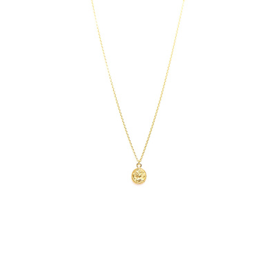 Karma Coin Goldplated Ketting T37-COL-CO-GP (Lengte: 38.00-57.00 cm)