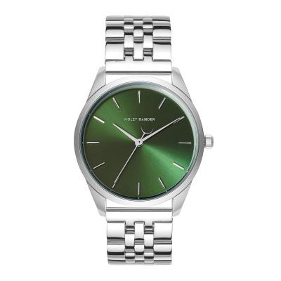 Violet Hamden Serene City Zilverkleurig/Groen horloge VH04008 (32 mm)