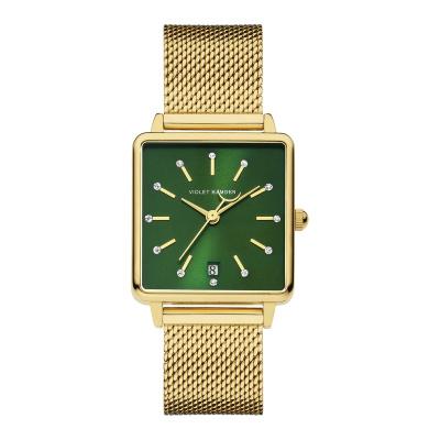 Violet Hamden Dawn Goudkleurig/Groen horloge (34 mm) VH09014