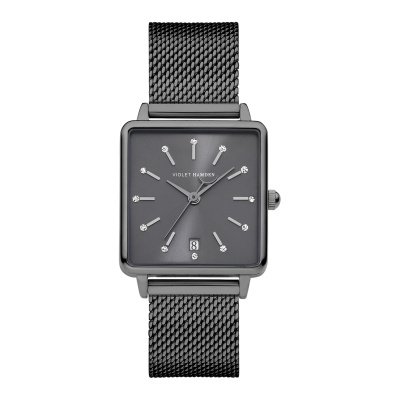 Violet Hamden Dawn Gunmetal horloge (34 mm) VH09017