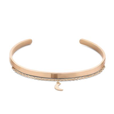 Violet Hamden Crescent Luna Roségoud Armband VH10120 (Verstelbaar van 15-20 cm)