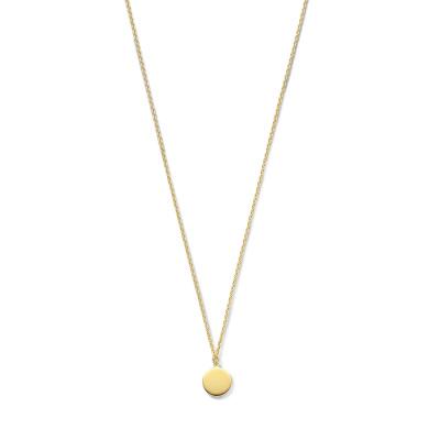 Violet Hamden Luna 925 Sterling Zilveren Goudkleurige Moonlight Halsketting VH14010 (Lengte: 45.00 cm)