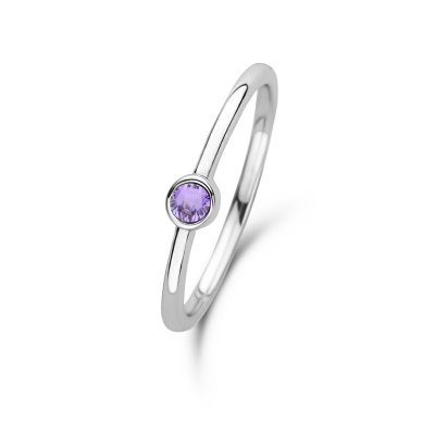 Violet Hamden Venus February 925 Sterling Zilveren Ring Met Geboortesteen VH330007FEB