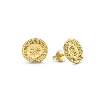 Violet Hamden Athens 925 Sterling Zilveren Goudkleurige Oorbellen VH360002