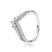 Pandora Stories 925 Sterling Zilveren Tiara Wishbone Ring 197736CZ