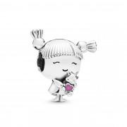 Pandora Moments 925 Sterling Zilveren Girl Bedel 798016EN160