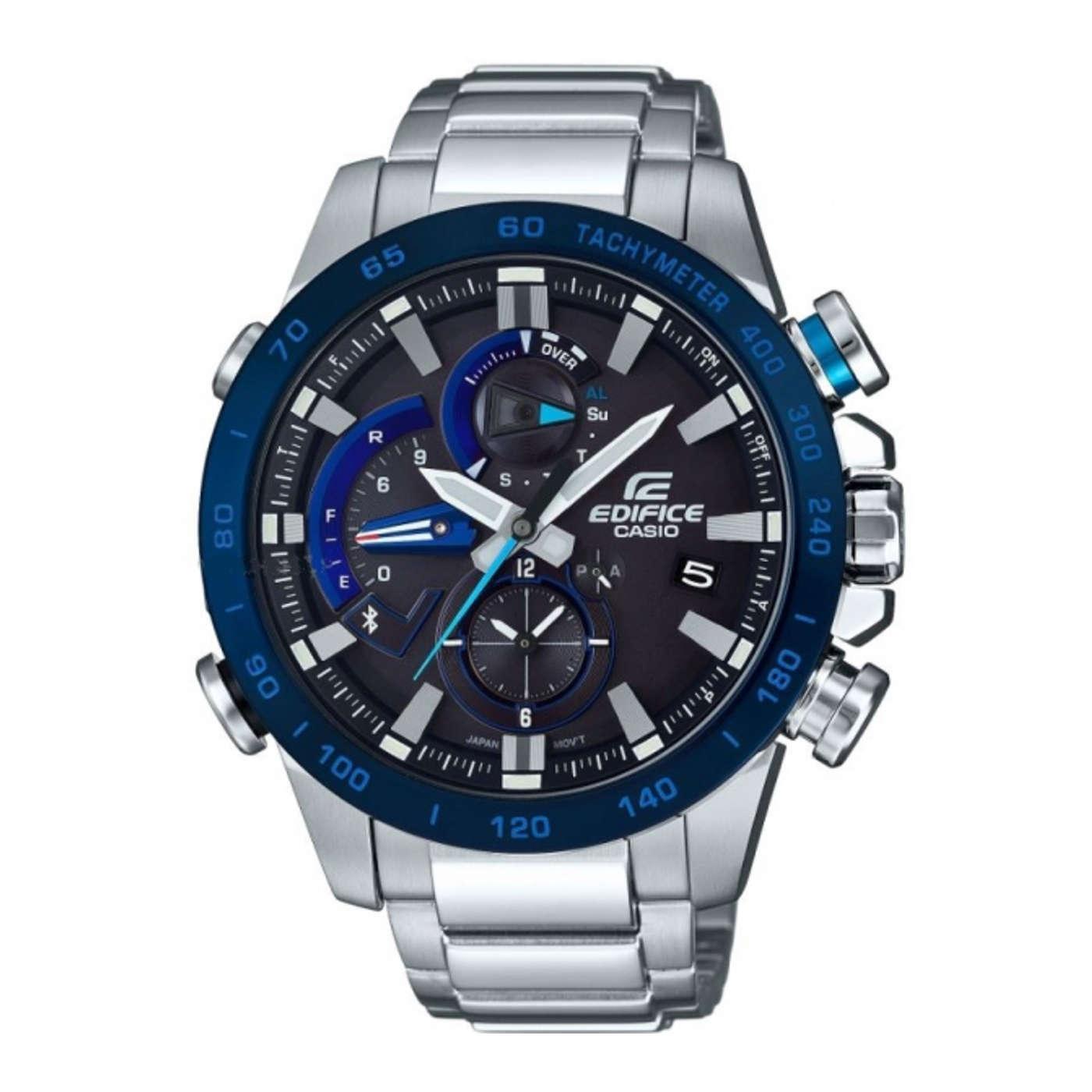 Afbeelding van Edifice Bluetooth Connected Racelap Chronograaf horloge EQB 800DB 1AER
