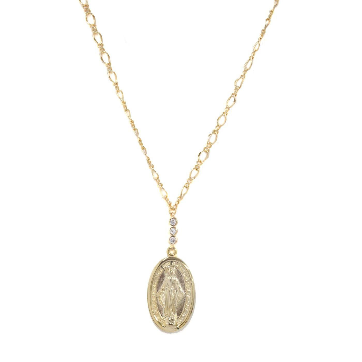 Afbeelding van Ettika Goudkleurige Holy Coin Ketting N1377.G