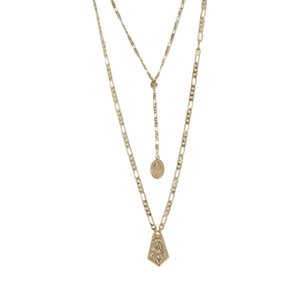 Afbeelding van Ettika Goudkleurige Holy Chain Layer Ketting N1510.G