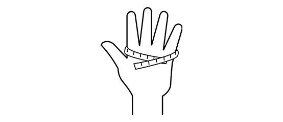 Handschoenmaat bepalen