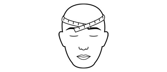 Headwear maat bepalen